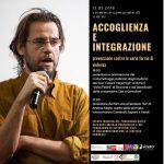 Andrea Segre (foto Elisa Caldana) e la locandina dell'evento in Cineteca a Rimini