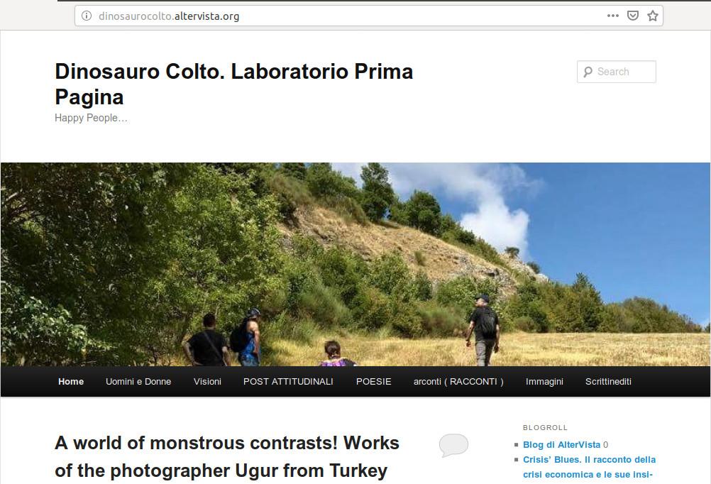 Dinosauro colto, blog del Laboratorio di scrittura creativa e narrazione Prima Pagina