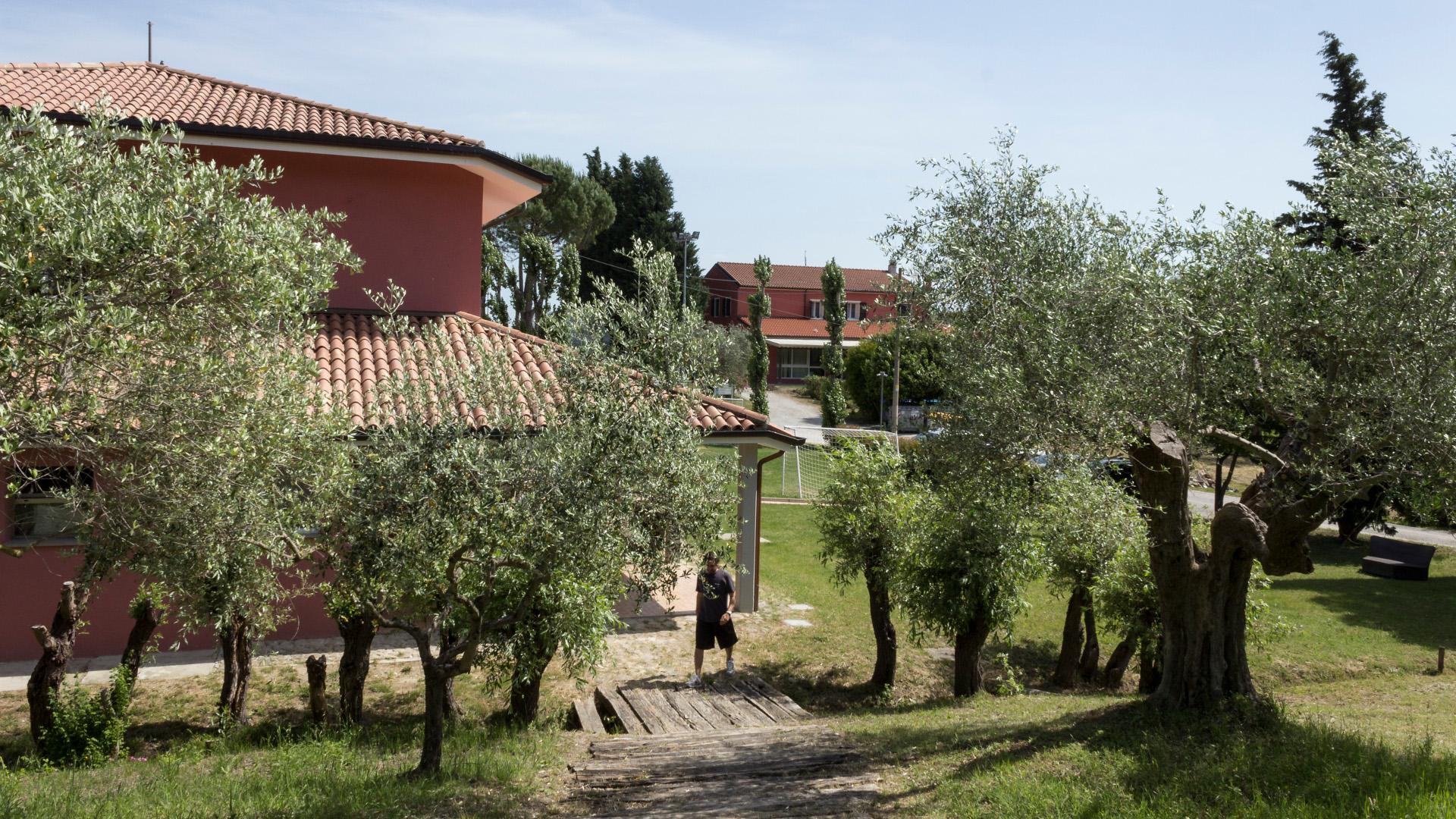 Il Centro Osservazione e Diagnosi (Cod) e, sullo sfondo, la Comunità Terapeutica di Vallecchio