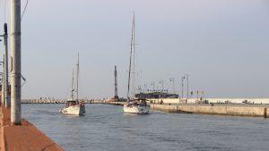 Partenza della Crociera terapeutica 2019 della Comunità di Vallecchio dal porto di Rimini.