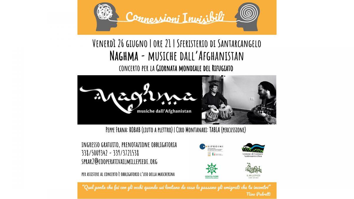 Locandina concerto Naghma, musiche dall'Afghanistan