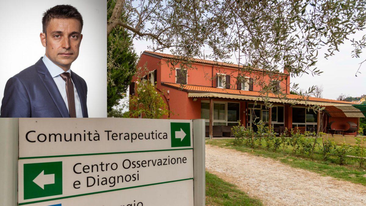 La Comunità terapeutica di Vallecchio e nel riquadro Giovanni Benaglia